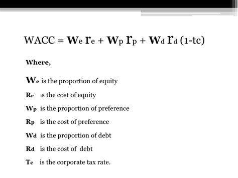 weighted average cost  capital