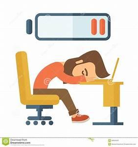 Lying Tired Employee Stock Vector - Image: 52643443