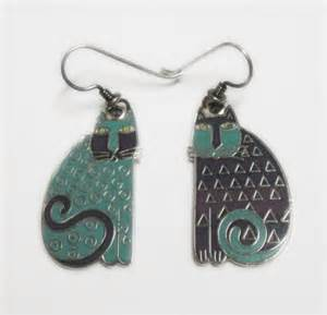 laurel burch elijahs 39 cats earrings vintage