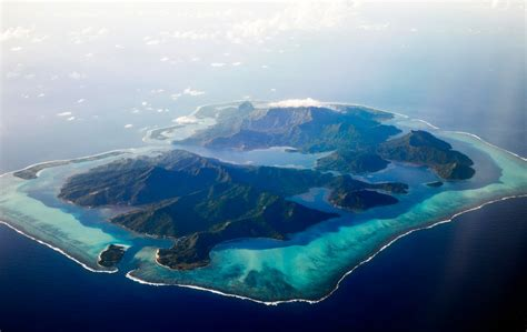 Nature Landscape Aerial View Island Atolls Tropical