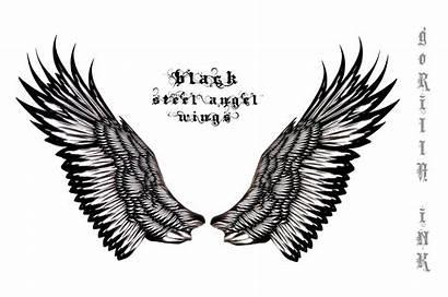 Wings Angel Steel Drawings Clip Wing Deviantart