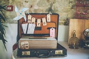Valise Vintage Pas Cher : urne vintage mariage le mariage ~ Teatrodelosmanantiales.com Idées de Décoration