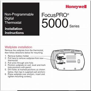 Honeywell Focuspro U00ae 5000 Series Installation Manual