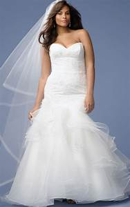Beach wedding dresses for plus size pluslookeu collection for Beach plus size wedding dresses