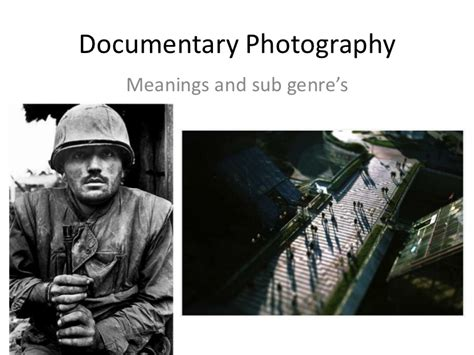 documentary photography artist research meanings