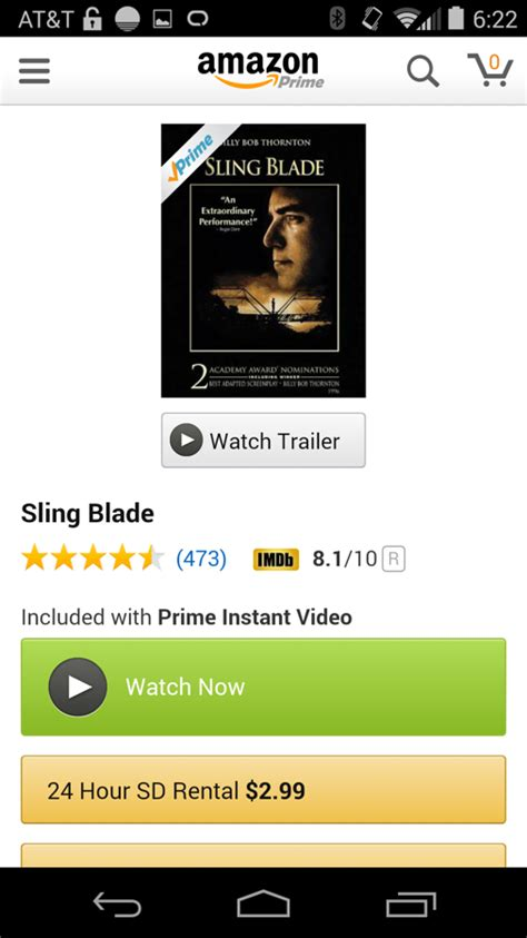 amazon prime instant video finally   android