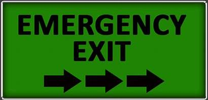 Exit Parking Lot Emergency Sign Ways English