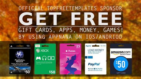 top free templates how to get free xbox psn steam giftcards appnana sponsors