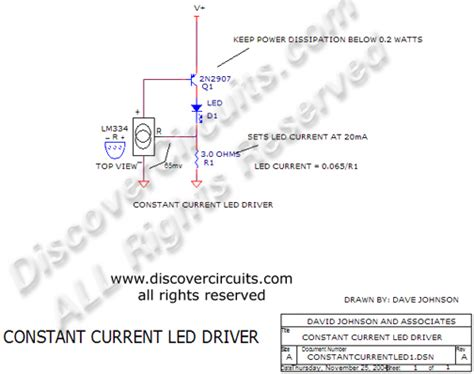 Circuit Constant Current Led Driver Designed