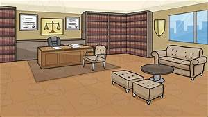 A Law Office Background Cartoon Clipart - Vector Toons