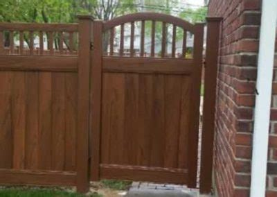 woodgrain vinyl fences gates liberty fence railing