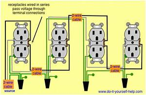 Wiring Diagram Receptacles In Series  U2026