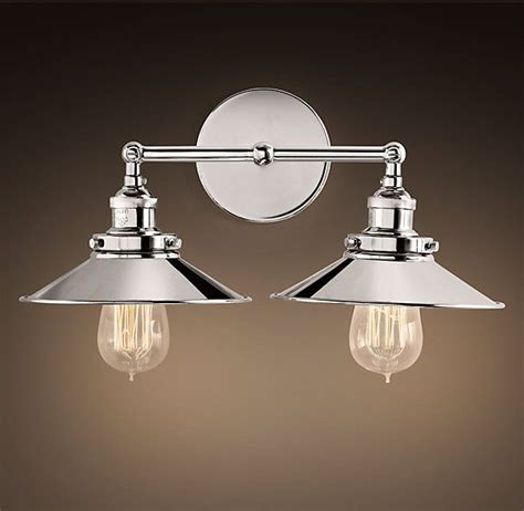 factory filament metal double sconce green