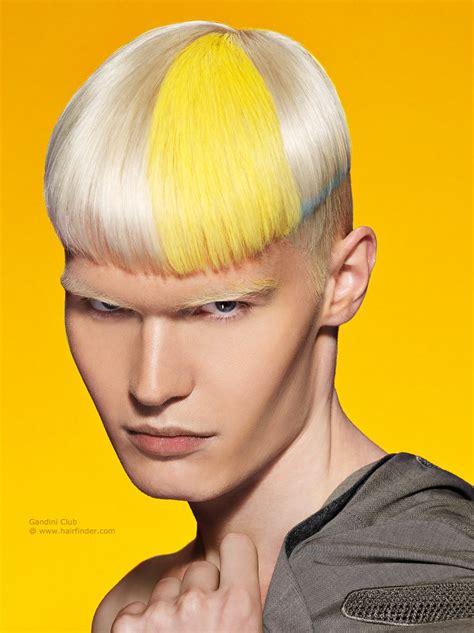 blonde mens hair  clipped sides  splashes