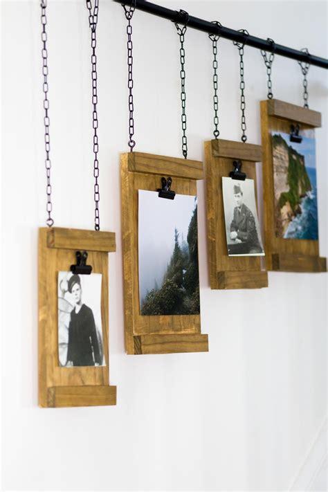 rustic photo hanging board hgtv