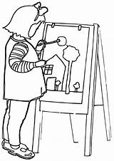 Artist Coloring Pages sketch template