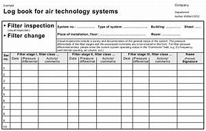 fire alarm log book template - heating ventilation