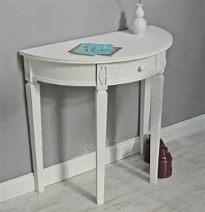 Tisch Weiß Holz : anrichte konsole sideboard wei antik landhaus halbrund rund tisch holz massiv ebay ~ Indierocktalk.com Haus und Dekorationen