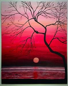 Original Sunset Painting, 16x12 Wall Art, Large Wall Art ...
