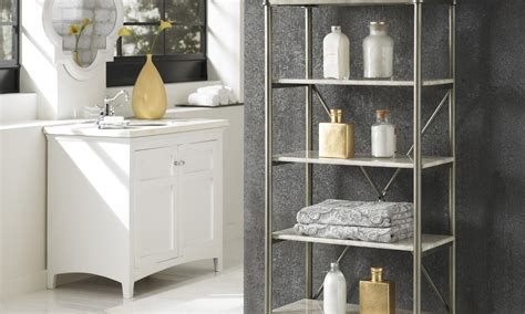 ideas for bathroom shelves 5 great ideas for bathroom shelves overstock