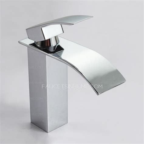luxury bathroom sink faucets luxury waterfall brass square shaped bathroom sink faucet