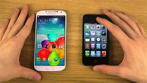 Samsung Galaxy S4 Vs  Iphone 4 - Review