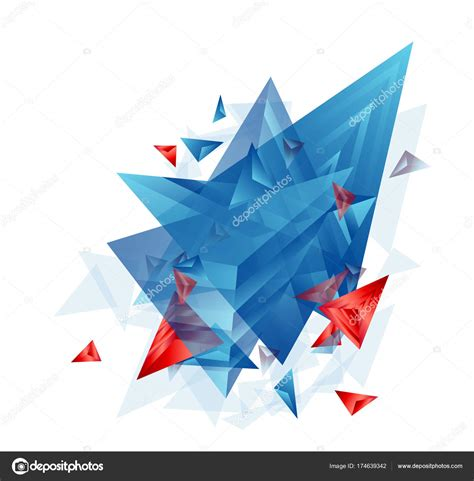 Abstract Cool Shapes by Modern Abstract Cover Background Cool Triangle Shapes