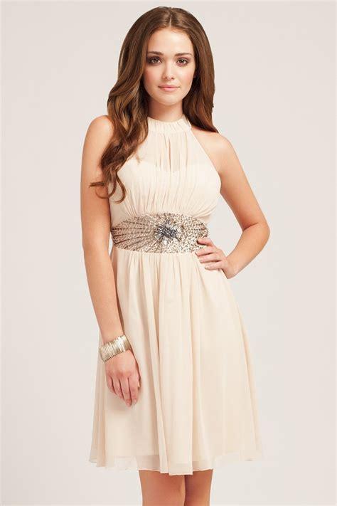 blouses and dresses embellished panel chiffon halter
