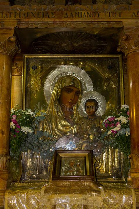 icon   mother  god tomb   virgin mary