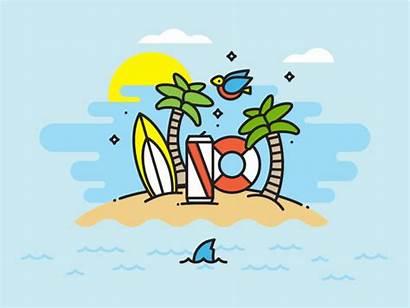 Summer Dribbble Livin Animation Motion Illustration Dribble