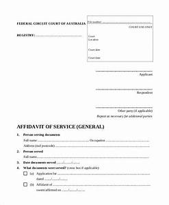 affidavit form template With court affidavit template