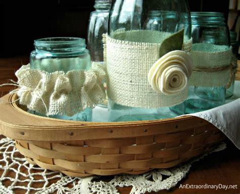 decorating jars decorating jars with burlap monday funday link
