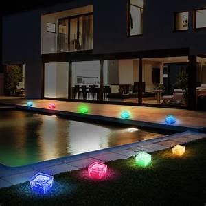 Balkon Beleuchtung Solar : 8er set rgb led solar lampen eis w rfel balkon au en beleuchtung garten weg glas stein leuchten ~ Indierocktalk.com Haus und Dekorationen