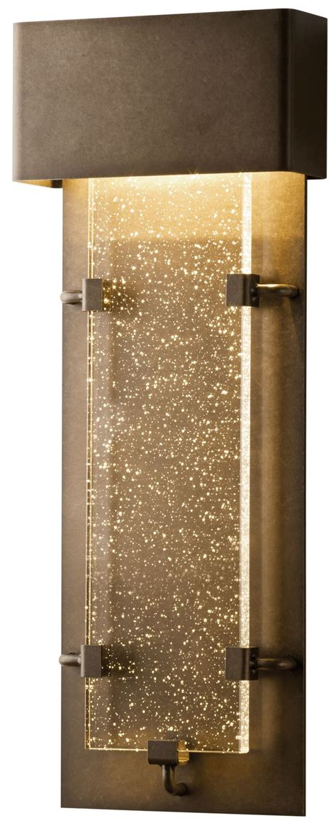 contemporary outdoor lighting sconces hubbardton forge 302501 ursa led modern contemporary