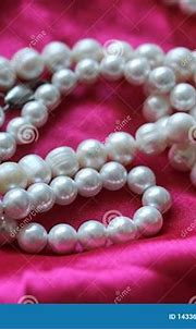 Pink Background With White Pearls. Beautiful Texture ...