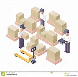 Warehouse Working Area. Distribution Center Stock Vector ...