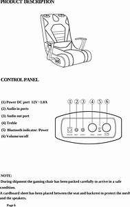 Qianglong Furniture 4001200 Video Gaming Chair User Manual