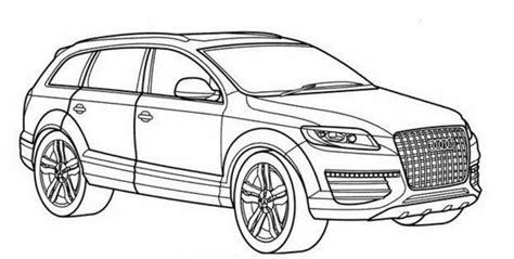 Bmw Kleurplaten A4 by Audi Q7 Drawing Auto Moto Cars Coloring Pages Audi Q7