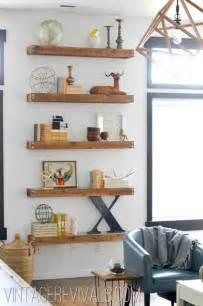 livingroom shelves diy built in shelving living room makeover vintage revivals decoration loft