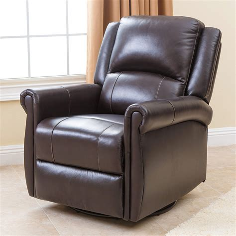 Recliner Rockers Chairs by Abbyson Living Leather Swivel Glider Recliner