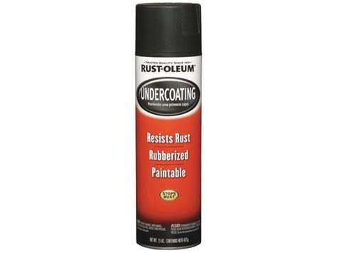 Rustoleum 248657 15 Oz Black Rubberized Undercoating Spray