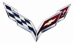 C7 Corvette 2014+ Metal Crossed Flag Logo Sign - Size ...