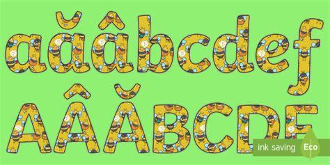 * New * Clasa Albinuțelor  Literele Alfabetului Decupabile