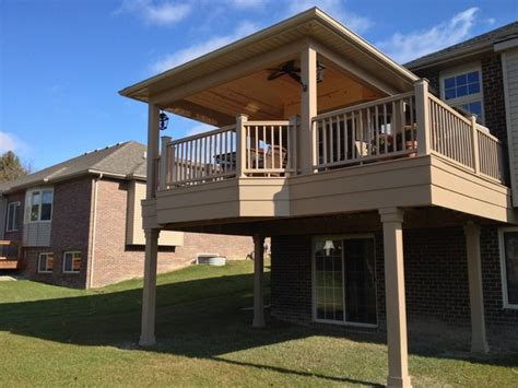 rochester hills pvc covered deck traditional landscape