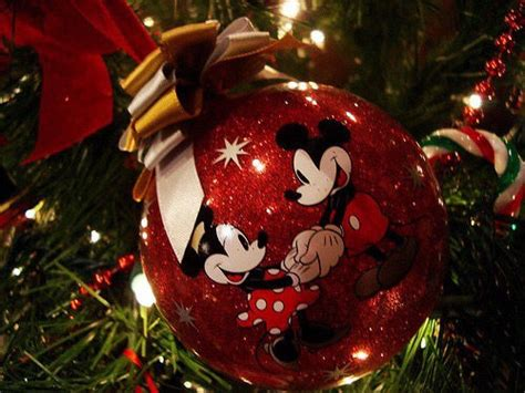 mickey and minnie mouse christmas ornaments pictures