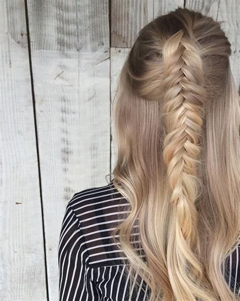 Braided Hairstyles for Long Hair Half Up Half Down   My