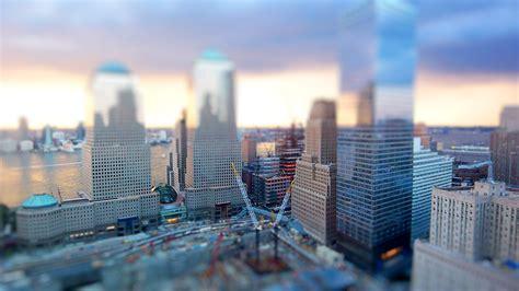 york  world trade center construction site tilt