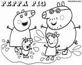 Peppa Pig Coloring Pages Template Printable Sheets Drawing Peppapig Cartoon Popular Birthday Right Colorings Coloringhome sketch template