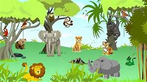 Learn Jungle - the best wild animal sounds for kids - song ...