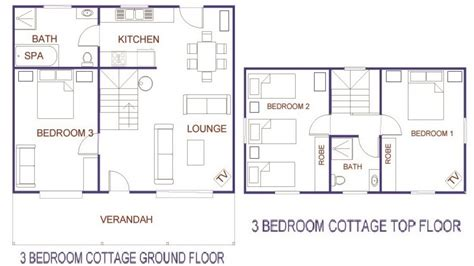 3 Bedroom Cottage House Plans Economical Small Cottage